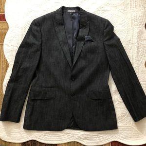 Express photographer fitted blazer coat in medium